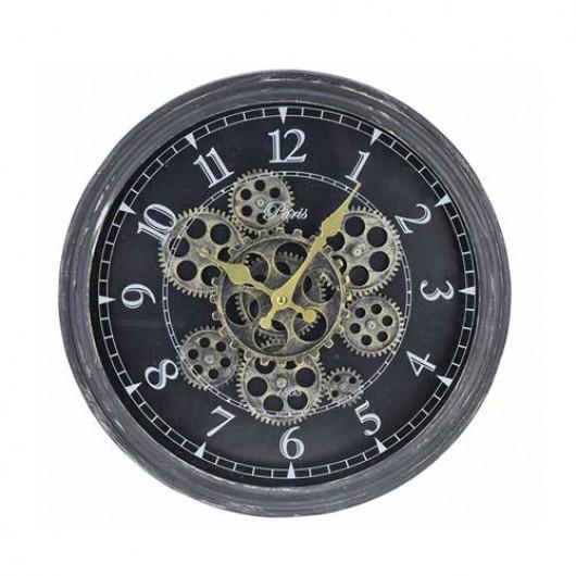 Ρολόι τοίχου με κινούμενο μηχανισμό 37cm