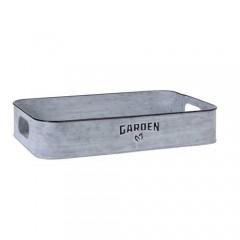 """Δίσκος Vintage με print """"Garden"""" 40x25cm"""