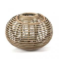 Φανάρι rattan σε σχήμα μπάλας φυσικό χρώμα 44x32cm
