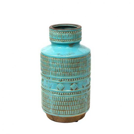 Βάζο Κεραμικό indigo τυρκουάζ 32cm