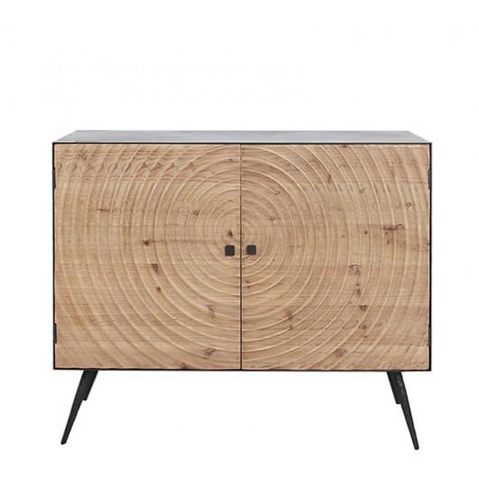 Μπουφές μασίφ ξύλο σχ.Spiral & μεταλ.σκελετό 100cm