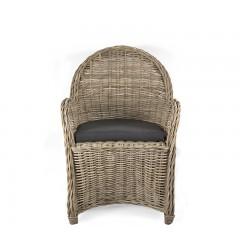 Πολυθρόνα από πραγματικό Kubu full  rattan με μαξιλάρι 95cm