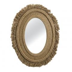 Οβάλ καθρέπτης κορνίζα σχοινί με κρόσσια 76x100cm