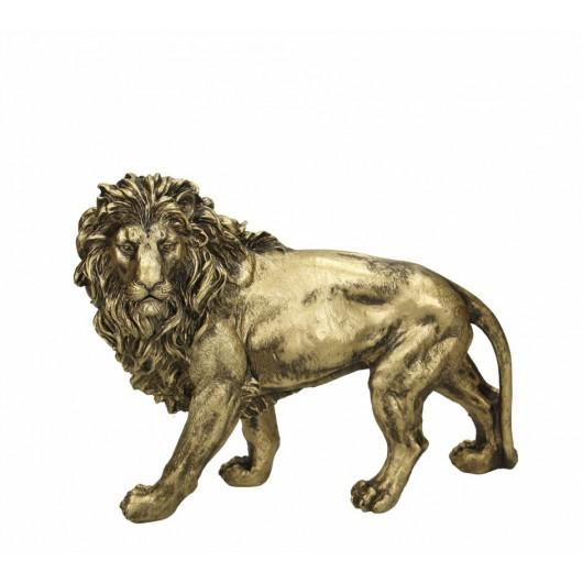 Διακοσμητικό επιτραπέζιο χρυσό λιοντάρι 29cm