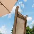 Barley sling πολυθρόνα με textline από ξύλο sherwood με ανάκλιση