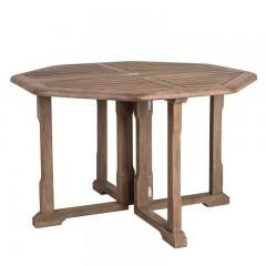 Τραπέζι κήπου 120εκ πολύγωνο πολυμορφικό από ξύλο sherwood