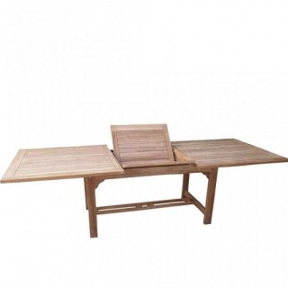 Teak τραπέζι 160-210x90cm παραλληλόγραμμο με δυνατότητα επέκτασης.