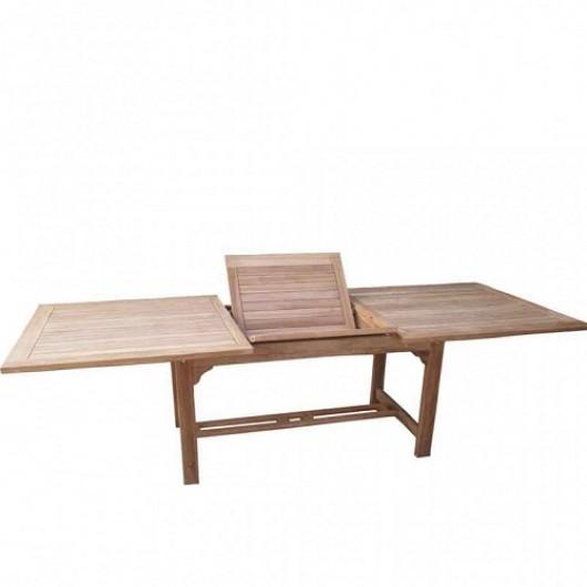 Τραπέζι 180-240Χ100cm παραλληλόγραμμο επεκτεινόμενο από ξύλο Teak