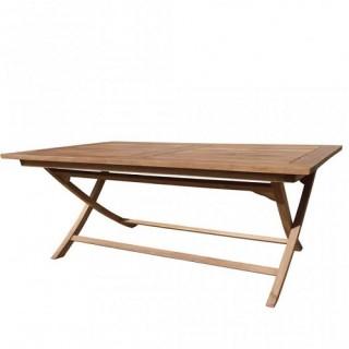 Τραπέζι 120x70cm παραλληλόγραμμο πτυσσόμενο από ξύλο teak