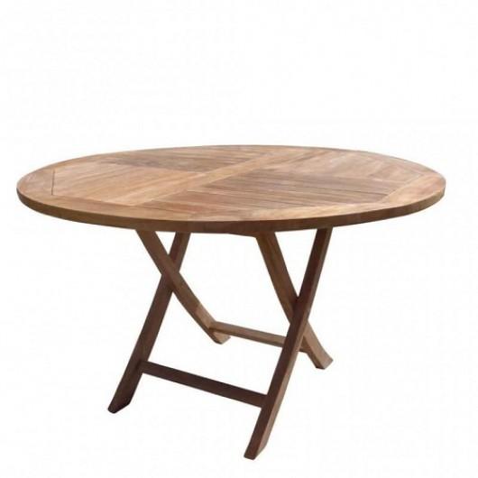 Τραπέζι Ø 120cm πτυσσόμενο από ξύλο teak