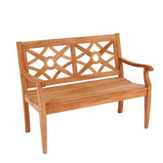 Heritage διθέσιος καναπές από μαόνι με σχέδιο στην πλάτη