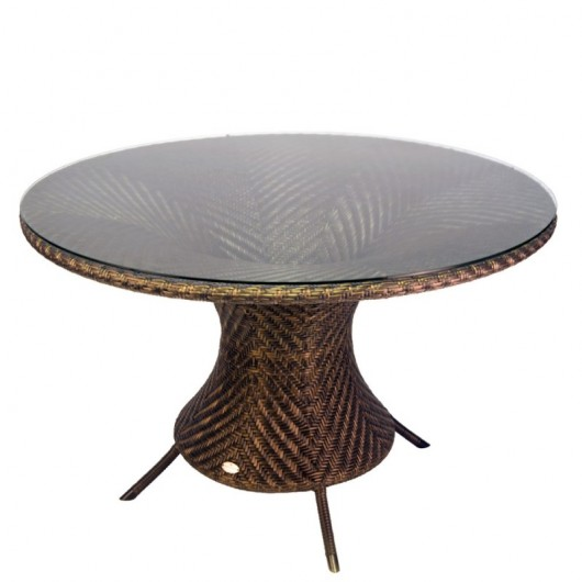 Ocean Wave τραπέζι 130cm σε wenge χρώμα με τζάμι