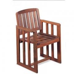 Linda πολυθρόνα κήπου σταθερή από ξύλο Red Shorea