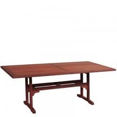 Τραπέζι 150X97cm Major Rect παραλληλόγραμμο Red Shorea