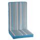 Μαξιλάρι πολυθρόνας με χαμηλή πλάτη ριγε γαλάζιο γκρι λευκό