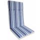 Μαξιλάρι πολυθρόνας με ψηλή πλάτη ριγε εκρού μπλε