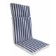 Μαξιλάρι πολυθρόνας με ψηλή πλάτη ριγε λευκό μπλε