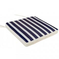 Μαξιλάρι καθίσματος έδρας λευκό με μπλε ρίγες navy