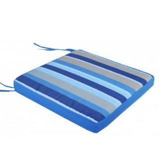 Μαξιλάρι καθίσματος έδρας μπλε γαλάζιες ρίγες