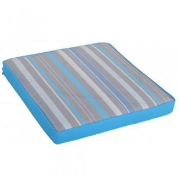 Μαξιλάρι καθίσματος έδρας ριγέ γαλάζιο γκρι