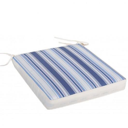 Μαξιλάρι καθίσματος έδρας Εκρού με μπλε ρίγες