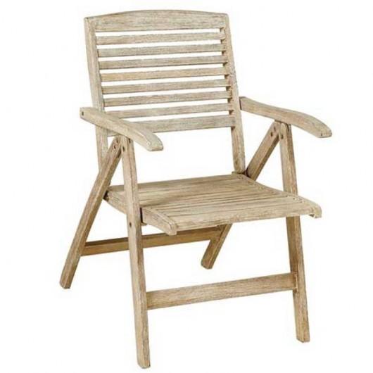 Sahara Get 5 ξύλινη πολυθρόνα 5 θέσεων με χαμηλή πλάτη από ξύλο ακακίας