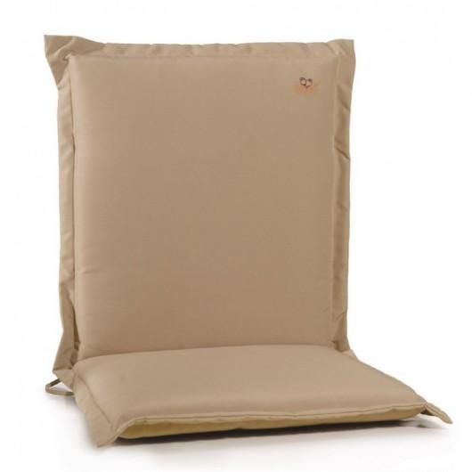 Μαξιλάρι πολυθρόνας με χαμηλή πλάτη καφέ