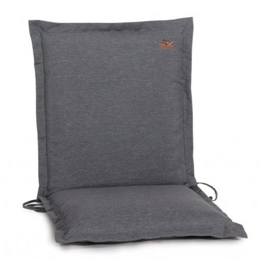 Μαξιλάρι πολυθρόνας με χαμηλή πλάτη γκρι