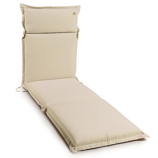 μαξιλάρι για ξαπλώστρες πισίνας, από πολυεστερικό ύφασμα, μονόχρωμο εκρου