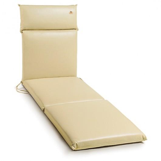 μαξιλάρι για ξαπλώστρες πισίνας, από υψηλής ποιότητας δερματίνη  μονόχρωμο εκρου