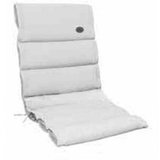 Μαξιλάρι χαμηλή πλάτη λευκό χρώμα και ανάγλυφο ύφασμα