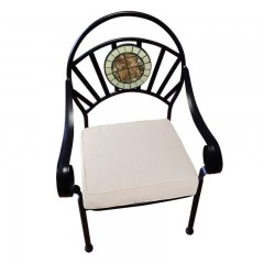 Πολυθρόνα μεταλλική στοιβαζόμενη Mosaic με μαξιλάρι