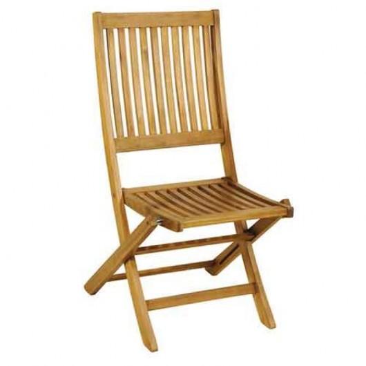 Καρέκλα ξύλινη πτυσσόμενη με χαμηλή πλάτη από ξύλο ακακία