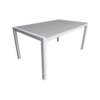 Τραπέζι MADISON150X090X072cm με τάβλες Polywood grey