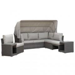 Bolsena Set σαλόνι κήπου από συνθετικό rattan