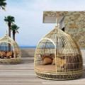 Daybed cottage καθιστικό με αποσπώμενη σκεπή