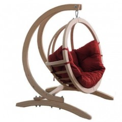 Globo πολυθρόνα κρεμαστή με Βάση και μαξιλάρι