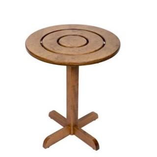 Κρόνος στρογγυλό τραπέζι 60cm με σταθερή βάση