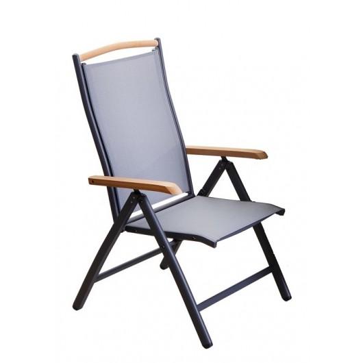 Πολυθρόνα Polywood - Textilene 5Θ mediteraneo μαυρη