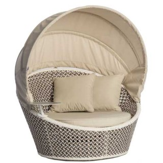 Peacock mini Daybed καναπές σκίαστρο και πουφ