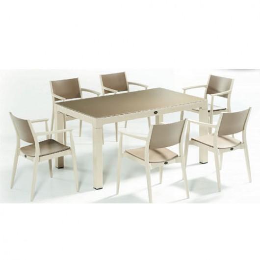 Ponte τραπέζι set με έξη πολυθρόνες