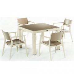 Ponte τραπέζι set με τέσσερις πολυθρόνες