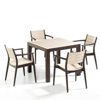 Regnum τραπέζι set με τέσσερις πολυθρόνες