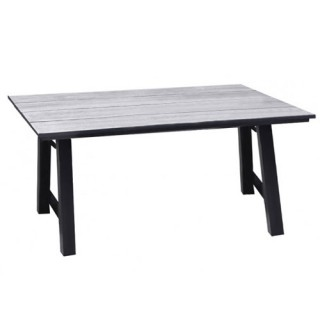 Salem τραπέζι αλουμινίου 160x90cm μαύρο γκρι χρώμα