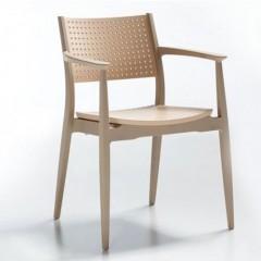 Seginus πολυθρόνα πολυπροπυλενίου στοιβαζόμενη ivory