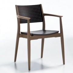 Seginus πολυθρόνα πολυπροπυλενίου στοιβαζόμενη καφέ