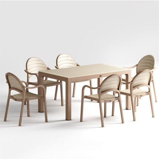 Senza τραπέζι set με έξη πολυθρόνες