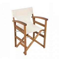 Σκηνοθέτη Πολυθρόνα ξύλινη με τοξωτά μπράτσα
