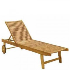 Ξαπλώστρα πισίνας με ρόδες από ξύλο ακακία