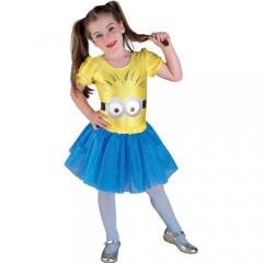 Στολή Minion κορίτσι μοδάτη με φουστίτσα
